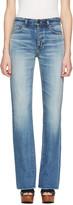 Saint Laurent Blue Cropped Flared Jeans