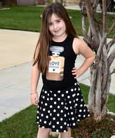 Beary Basics Black Love Potion Tank & Polka Dot Skirt - Toddler & Girls
