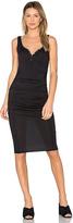 Twenty Superior Midi Dress in Black