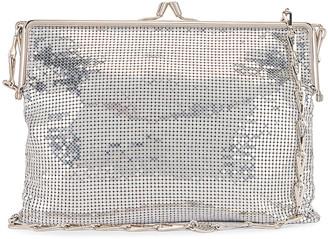 Paco Rabanne Pixel Frame Bag in Silver   FWRD