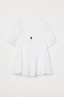 H&M Creped Top - White
