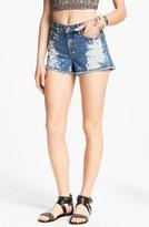 STS Blue Bleached High Waist Shorts (Juniors)