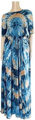 Raquel Allegra Blue Cotton Dress for Women