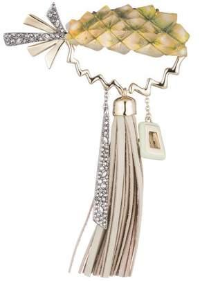 Alexis Bittar Pineapple Leather Tassel Pin