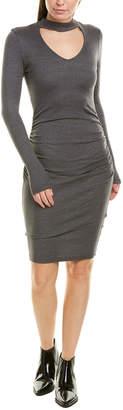 Michael Stars V-Neck Choker Sheath Dress
