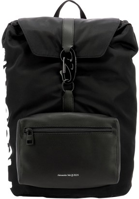 Alexander McQueen Graffiti Logo Backpack