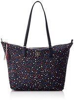 Tommy Hilfiger Poppy Tote Star Print, Women's Shoulder Bag, Blau (Star Print), 14x32x47 cm (B x H T)