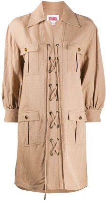 Solid & Striped Lace-Up Parka Coat
