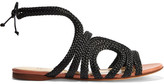 Francesco Russo Braided Leather Sandals - Black