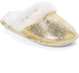 Gold Metallic Shimmer Slipper