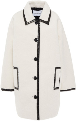Stand Studio Two-tone Faux Shearling Coat