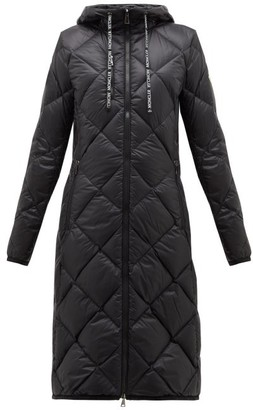 Moncler Suvex Hooded Diamond-quilted Coat - Womens - Black