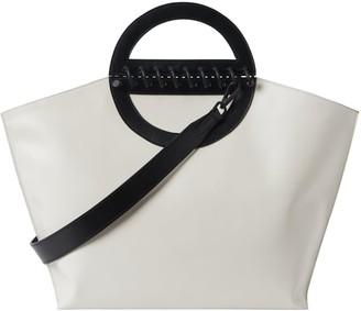 Atribut Leather Shopper Bag -Noble - Offwhite & Black