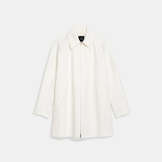 Theory Caban Coat in Double Cotton