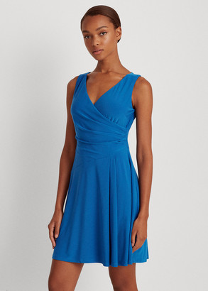 Ralph Lauren Matte Jersey Surplice Dress
