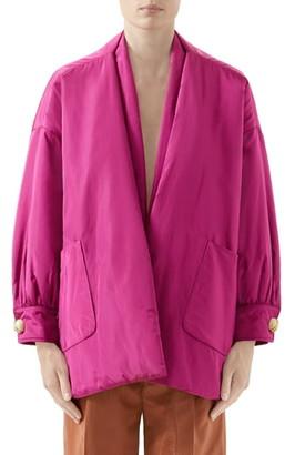 Gucci Silk Taffeta Jacket with Removable Scarf
