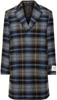 CALVIN KLEIN 205W39NYC - + Pendleton Oversized Checked Virgin Wool Overcoat