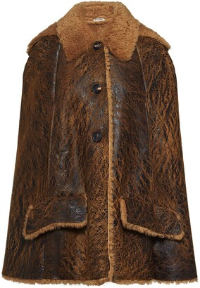 Miu Miu Shearling-Lined Cape