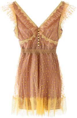Self-Portrait Polka Dot Mini Tulle Dress