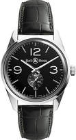Bell & Ross BR123BLACK Vintage Original satin steel and leather watch