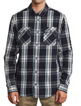 RVCA Men's Reverberation Flannel Shirt