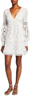 Bardot Mariah Spliced Lace Dress