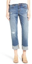 Women's Caslon Distressed Roll Cuff Crop Jeans