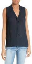 Frame Women's Tie Neck Pleated Blouse