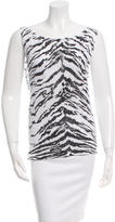 Saint Laurent Sleeveless Zebra Top