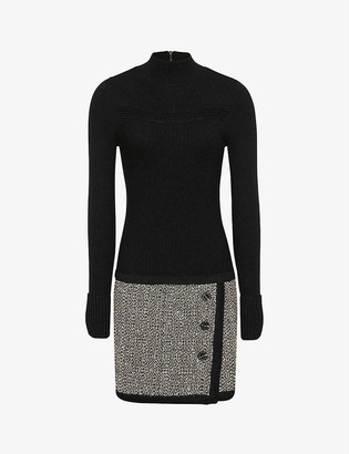 Reiss Kelly knitted mini dress