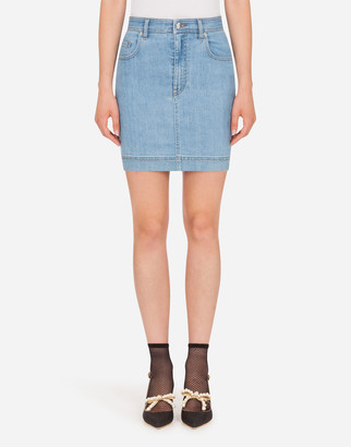 Dolce & Gabbana Short Denim Skirt