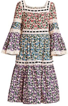 Marc Jacobs Runway Flare-Sleeve Tiered Prairie Dress