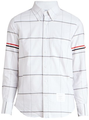 Thom Browne Oversized Checkered Button-Front Shirt