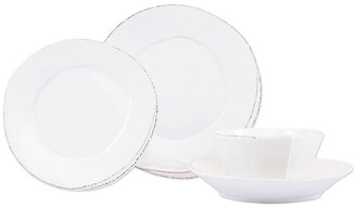 Vietri Set of 4 Lastra Place Setting - White