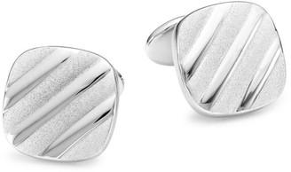 David Donahue Sterling Silver Diagonal Cushion Cufflinks