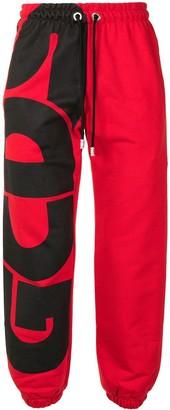 GCDS Logo-Print Cotton Track Trousers