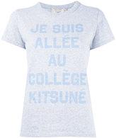 MAISON KITSUNÉ slogan print T-shirt - women - Cotton - L
