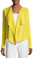 Eileen Fisher Draped-Front Organic Linen Cardigan
