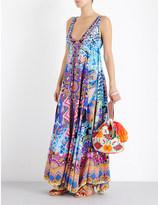 Camilla Alice in Essaouria v-neck silk maxi dress