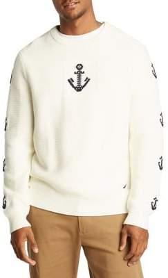 Nautica Intarsia Anchor Cotton Sweater