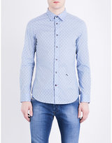 Diesel S-blanca Slim-fit Stretch-cotton Shirt
