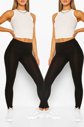 boohoo 2 Pack Basic High Waist Leggings