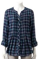 Croft & Barrow Women's Plaid Roll-Tab Tunic