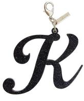 Edie Parker Alphabet K Bag Charm, Starlight Silver