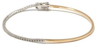 Delfina Delettrez 1987 Diamond & 18kt Gold Warped Tennis Bracelet - Yellow Gold