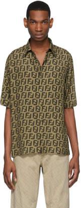 Fendi Brown All Over Forever Shirt