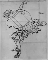 Spiffing Prints Katsushika Hokusai - Man with Box - Small - Matte - Unframed