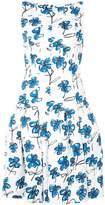 Oscar de la Renta flared floral print dress
