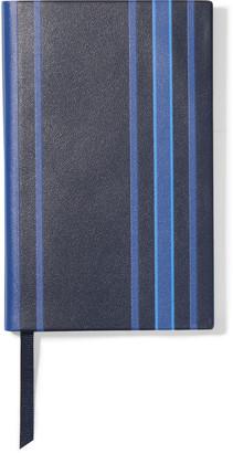 Smythson Panama Striped Leather Notebook