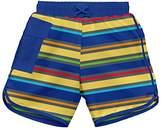 I Play Baby Boys' Striped Pocket Board Shorts With Swim Diaper